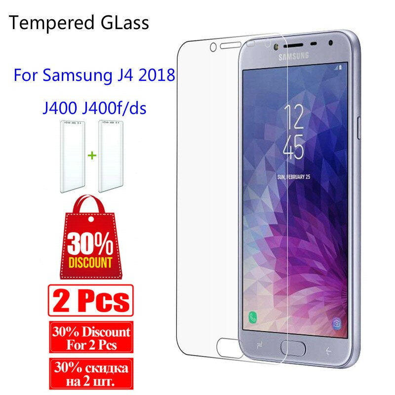 Tempered Glass For Samsung Galaxy J4 2018 J400 J400f/ds Screen Protector Cover For Samsung J 4 2018