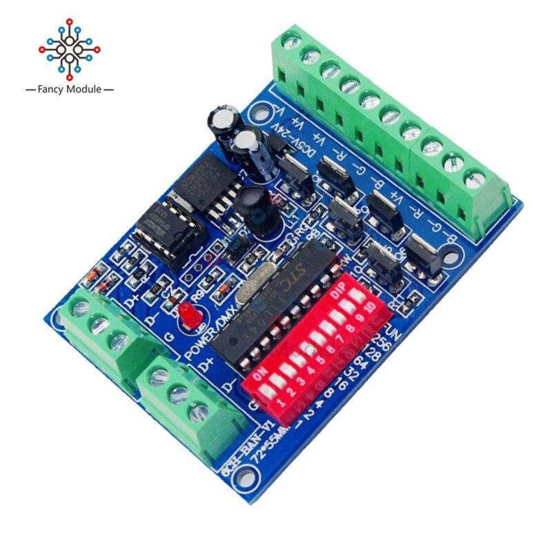 DMX512 DMX 512 6CH RGB decodificador 6 canales 4A/CH controlador para tiras LED 5050 RGB