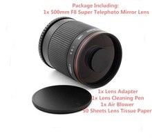 Super Tele 500mm f/8 Spiegel Lens voor Samsung NX NX-11, NX-20, NX-30, NX-100, NX-1100, NX-2000, NX-3000 Camera