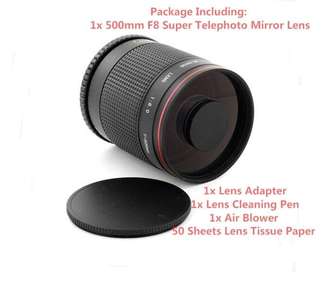 Superteleobjetivo 500mm f/8 lente de espejo para Samsung NX NX-11, NX-20, NX-30, NX-100, NX-1100, NX-2000, NX-3000, cámara de