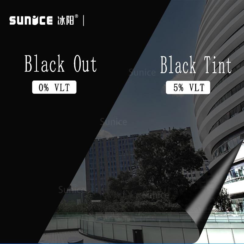 5% VLT negro oscuro película opaca para ventana de coche Auto comercial de aislamiento de calor película de Protección de Privacidad película Solar 50cm x 300cm nuevo