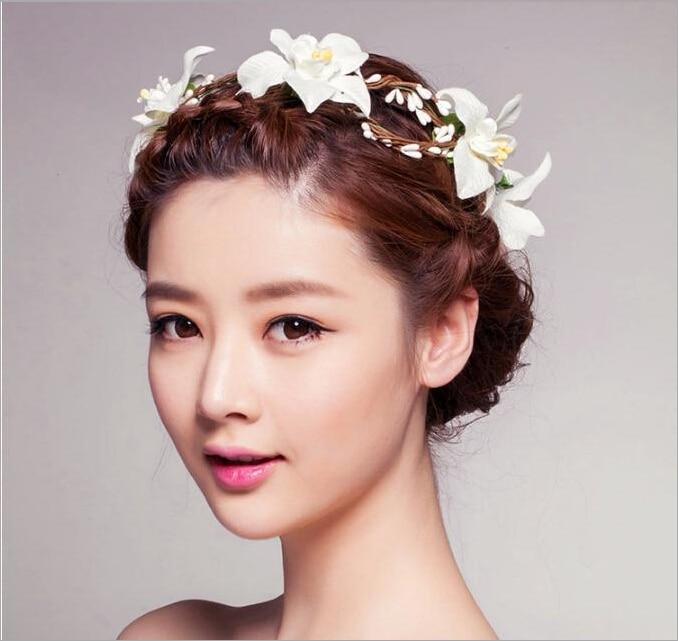 hair bands headband flower crown garland tiara headbands with flowers wreath for floral hair women wreath headpieces accessories