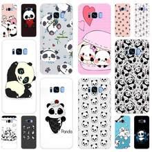 Funda suave de oso Panda sonriente para Samsung Galaxy S7 S6 Edge S8 S9 S10 S11 S20 Plus E Note 10 funda de teléfono 5G