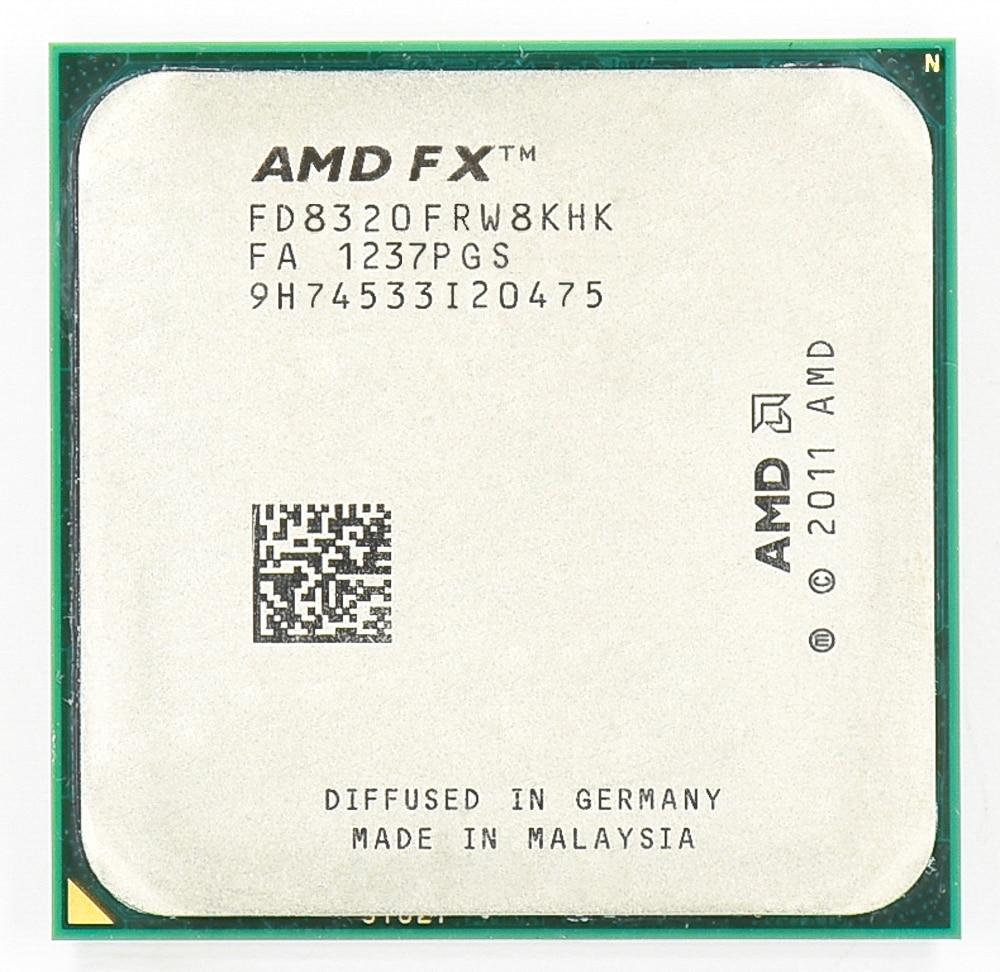 -Procesador AMD FX 8320, 3,5 GHz, ocho núcleos, 3,5G/8M/125W, enchufe AM3 +