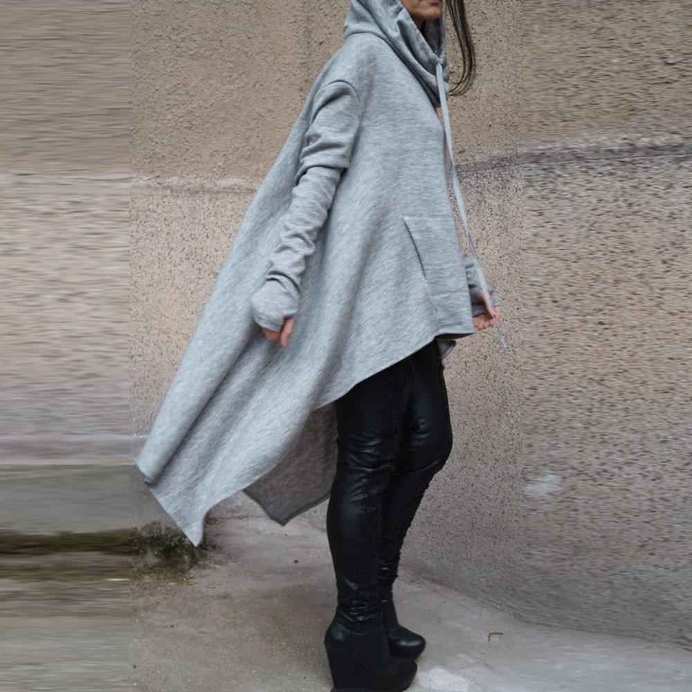 Preself Oversize Sweter Z Kapturem Bluza Kobiety Hoody Blaty Kobiet Luźna Z Długim Rękawem Płaszcz Z Kapturem Na Co Dzień Znosić Pokrywa Swetry Ubrania 3