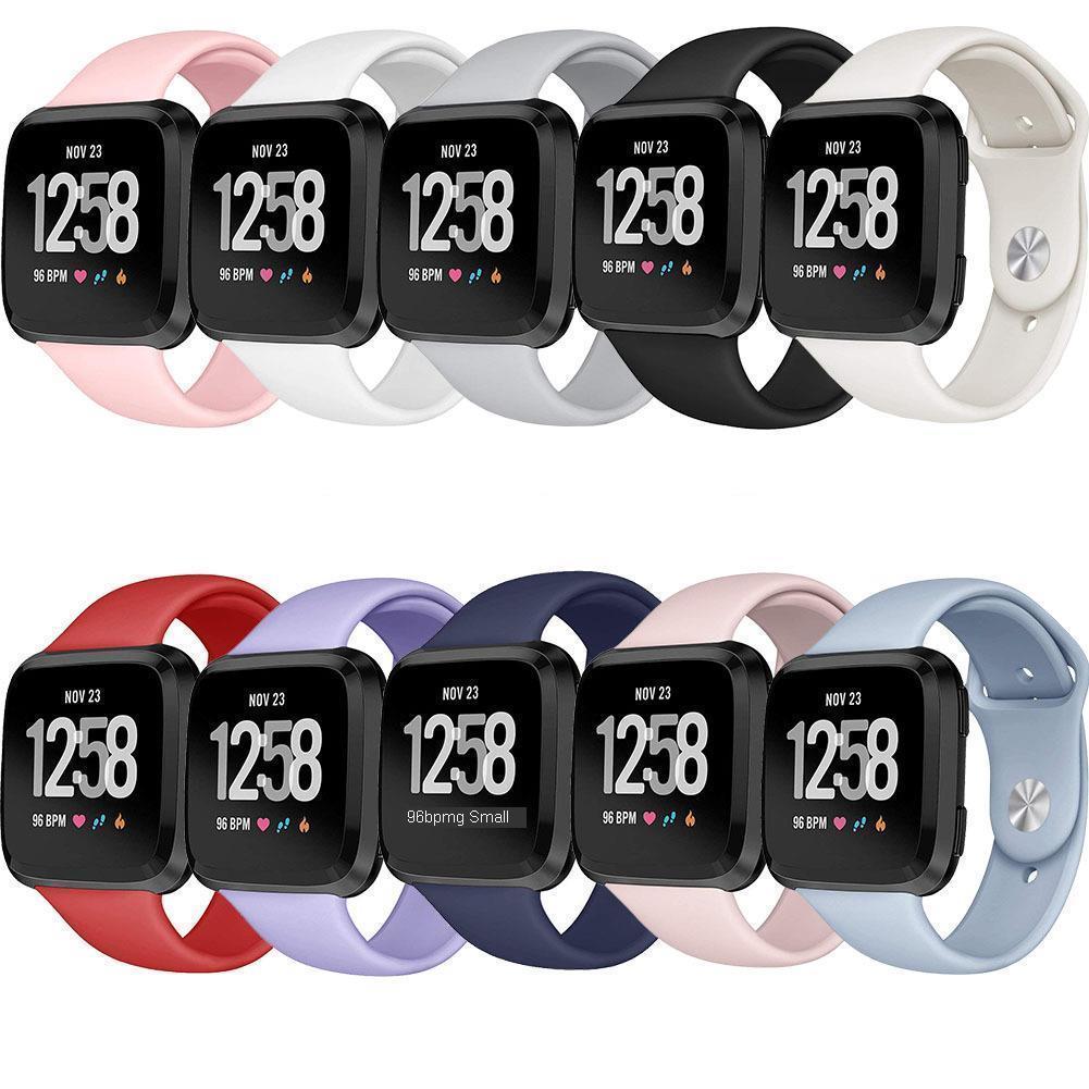 Ремешок для Fitbit Versa ремешок часы Reverse замена Браслет для Fi tbit Versa Lite ремешок силиконовая Пряжка Smartwatch наручные часы