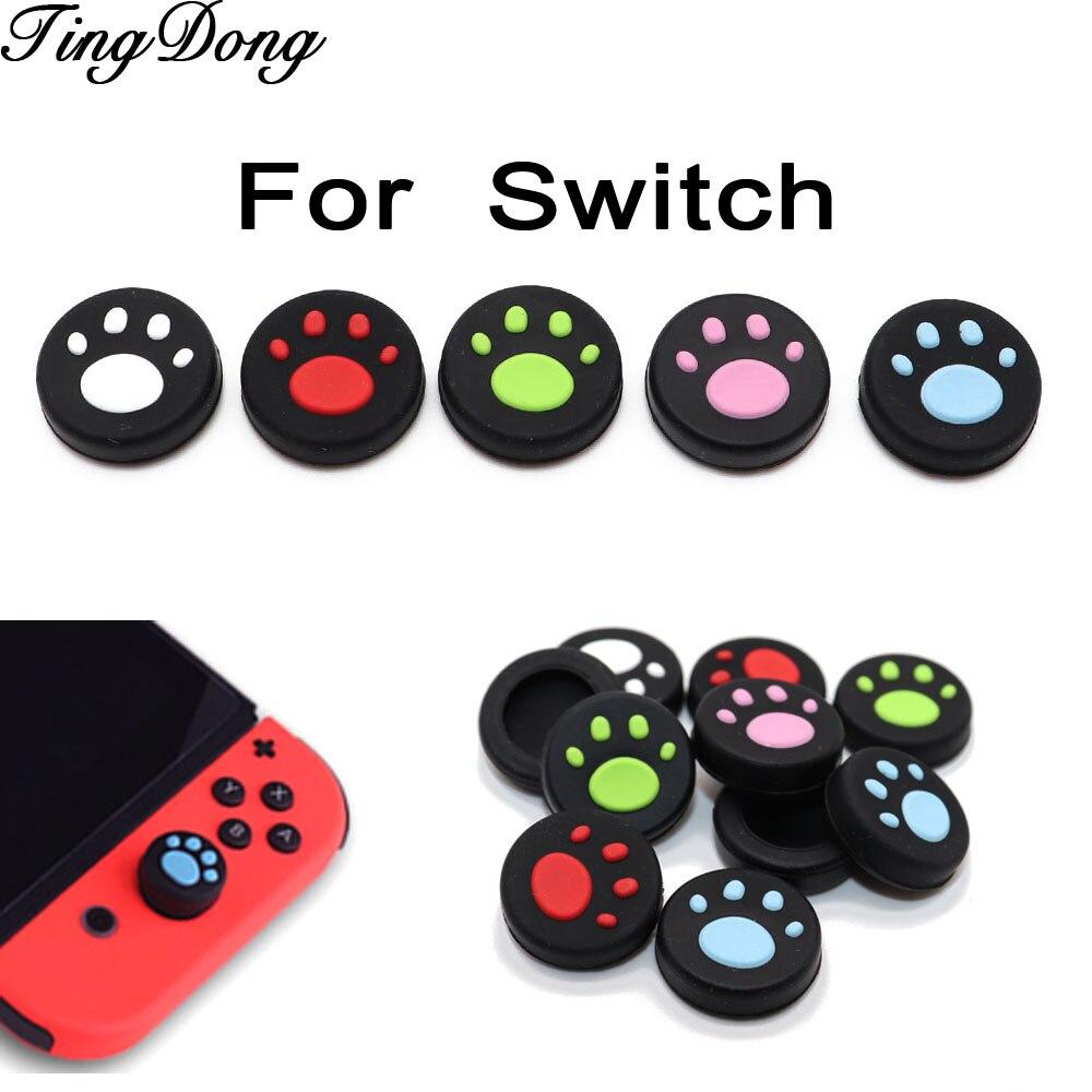 TingDong para Nintend Switch NS Joy-Con de silicona Analog Controller Joysticks adorable...