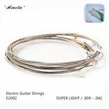 Electric Guitar Strings Amola Original Strings E2002 009-042  Long Life  Custom Super Light  3 Sets