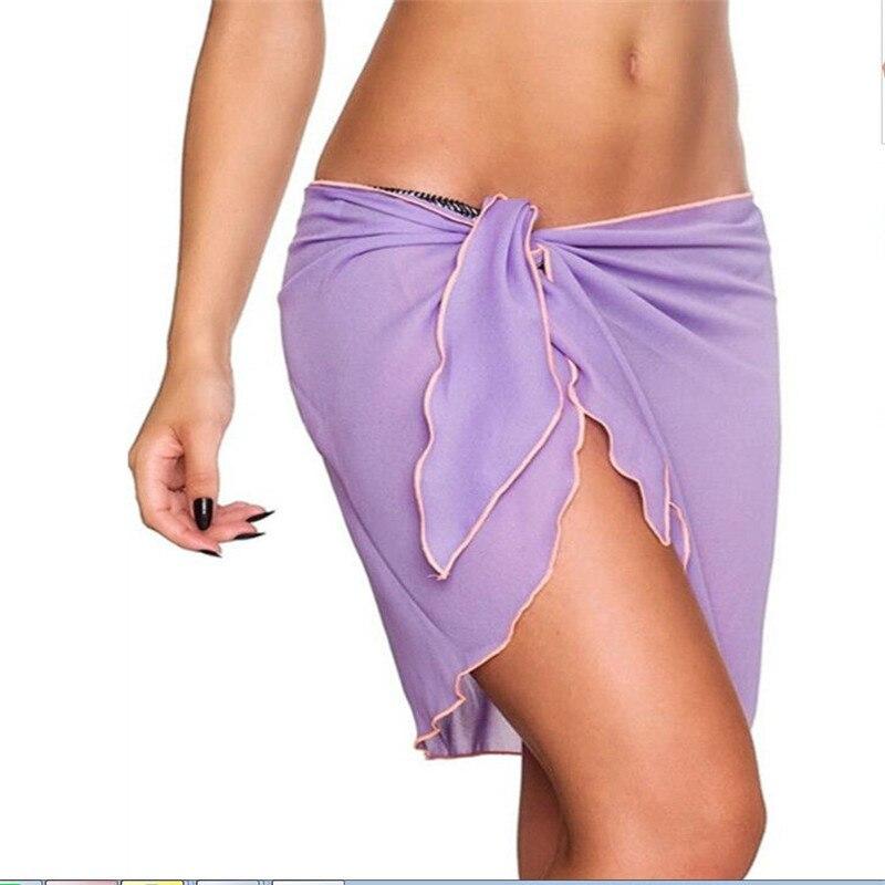 Charm mujeres gasa playa Bikini cubrir chal y pareo bañador sarong vestido
