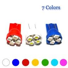Phare de stationnement voiture universel   100 pièces, 7 couleurs, T10, 194 W5W, 4 SMD, 1210, 3528, et 10MA, style de voiture, 12V