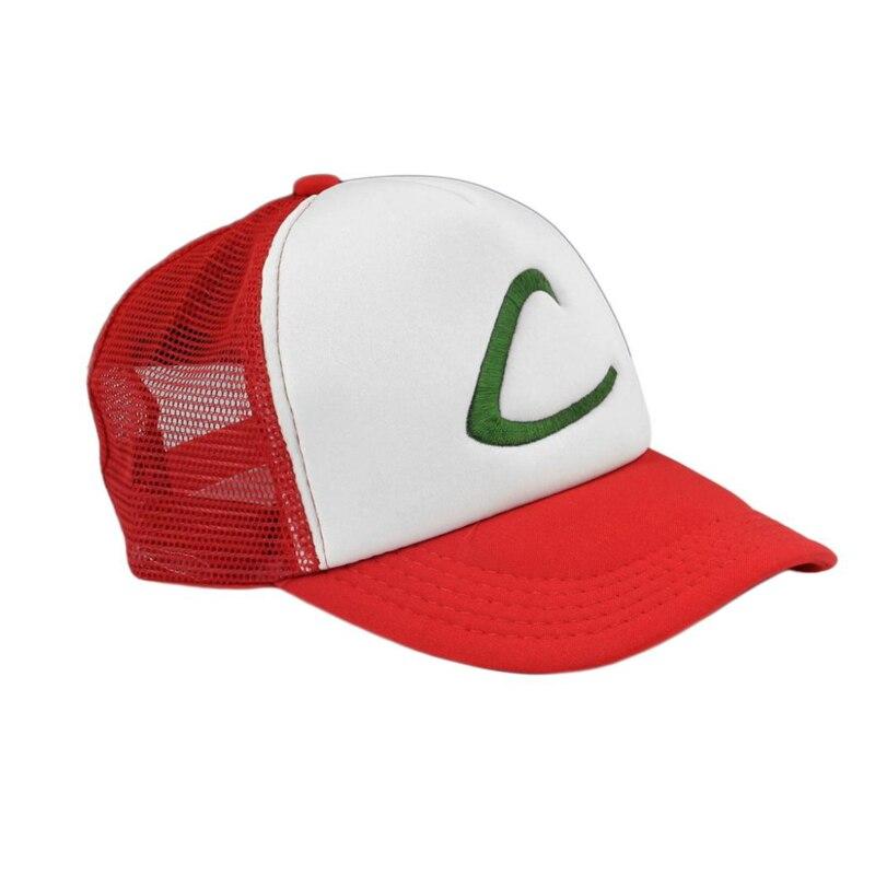 Letra C Ash Ketchum Unisex adulto Chapéu Do Camionista Snapback do Boné de Beisebol Treinador Hat para Adulto Bordado