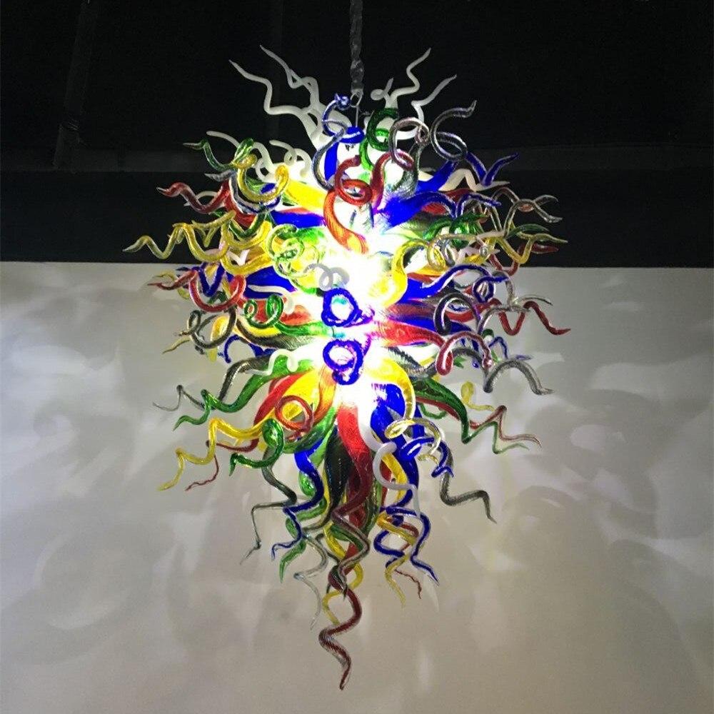 Роскошные муранские стеклянные люстры цветные светодиодные ручной выдувное стекло художественная люстра освещение
