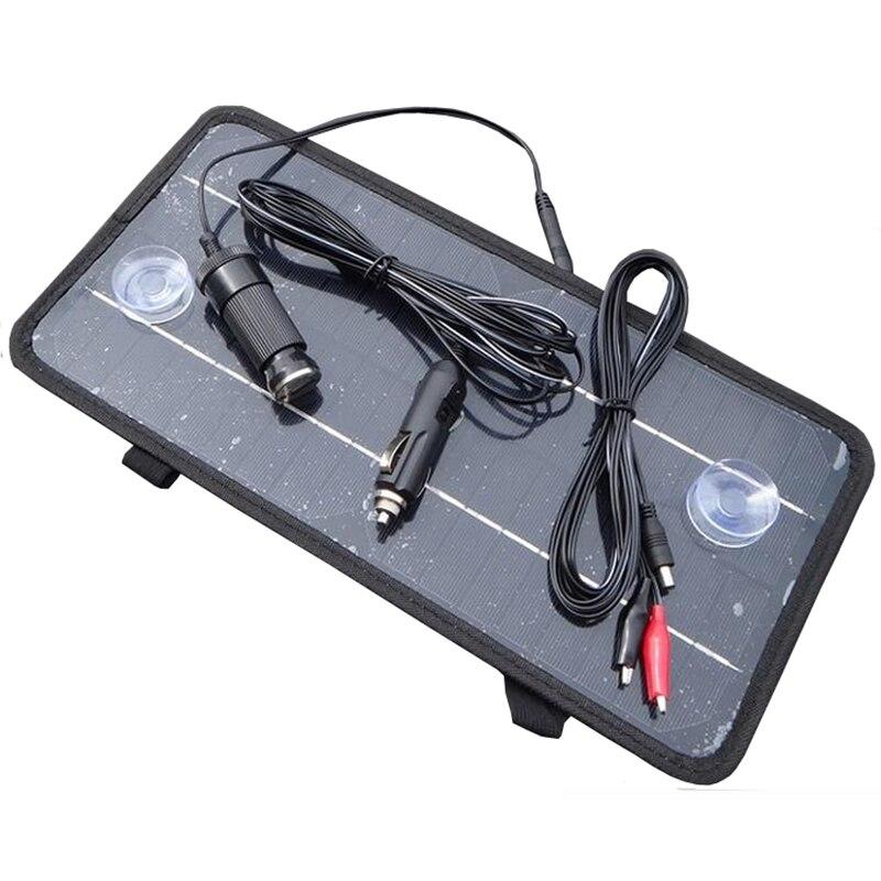 Горячая Распродажа 12В 8,5 Вт портативная монокристаллическая солнечная панель модуль система Автомобильная лодка перезаряжаемая батарея з...