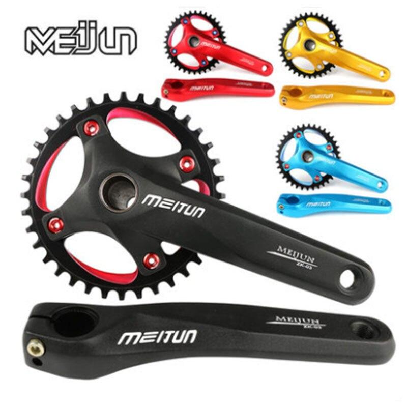 Bicicleta de Montaña meijun, tornillo de aleación de aluminio, Piñón de marcha única integral hueco, disco de diente de 36 T, accesorios de bicicleta BCD104