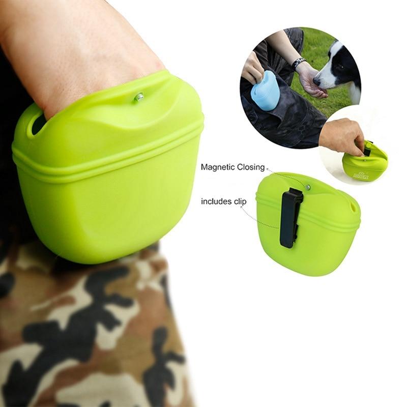 Bolsa de plástico de silicona para perros, bolsa de plástico portátil para mascotas, bolsa para alimentos