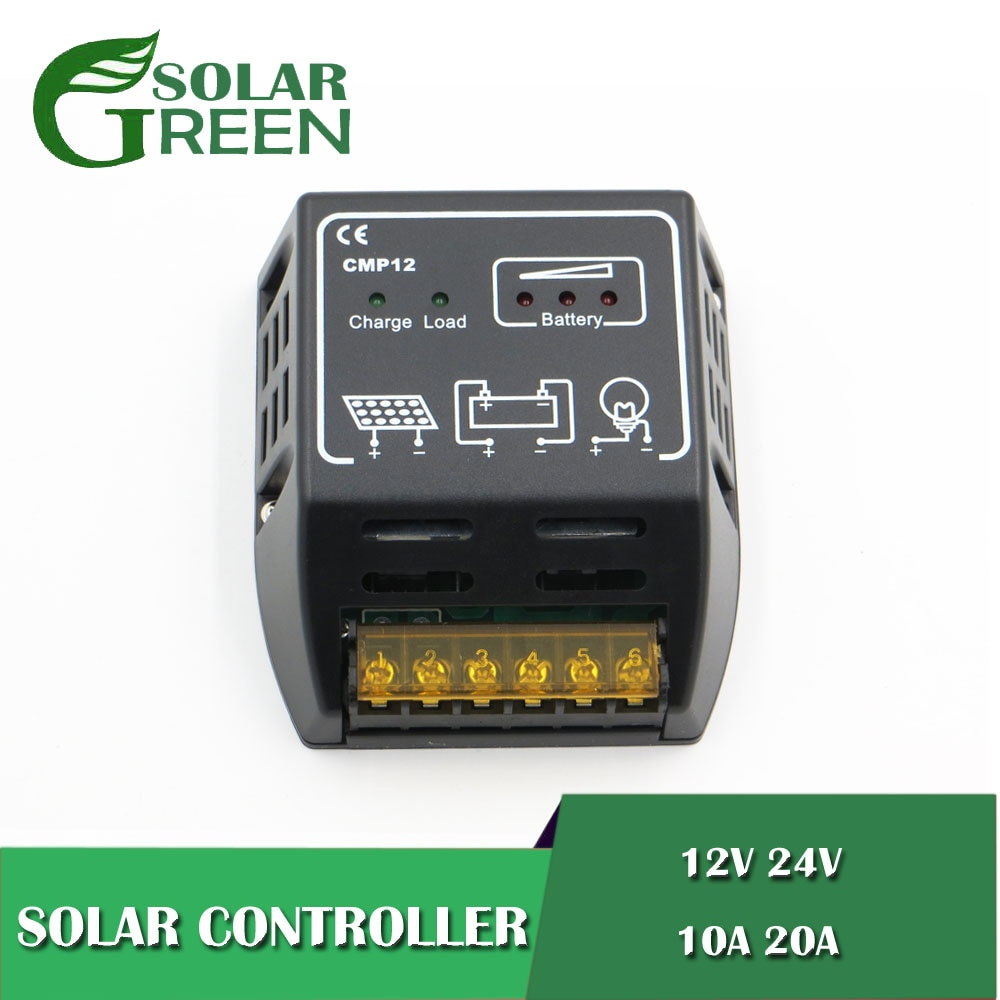 ШИМ CMP12 BSV20A 10/20A 12 В 24 в солнечные панели Контроллер заряда батареи 100 Вт 200 Вт 500 Вт 600 Вт ШИМ регуляторы зарядного устройства батареи