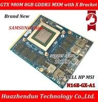 Neue Original GTX 980M Grafikkarte GTX980M SLI X-Halterung N16E-GX-A1 8GB GDDR5 MXM Fur Dell Alienware MSI HP Clevo notebook GPU