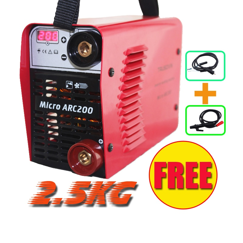 Current digital display 3.2mm electrode welder 220V/230V MINI 200A Inverter DC IGBT DIY Welding machine/equipment /welding tools