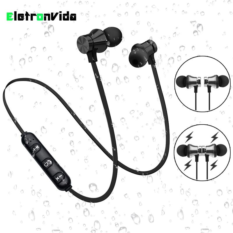 Auriculares Bluetooth magnéticos auriculares inalámbricos auriculares estéreo auricular con micrófono para iphone Android