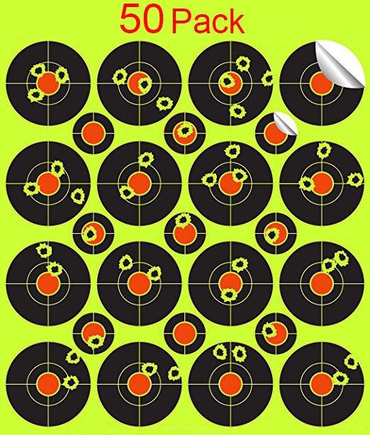 50 pack shooting stickers Splatterburst Targets - 2 inch Stickers  Splatter Reactive Self Adhesive Shooting Targets -Gu -Rifle