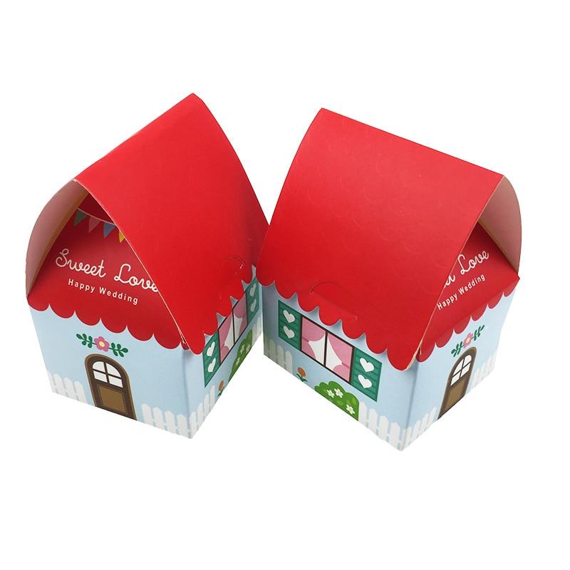 30 unids/lote 2019 Año Nuevo china rojo llegada creativa adorable dulce amor boda cajas de dulces caja de regalo azúcar caramelo paquete