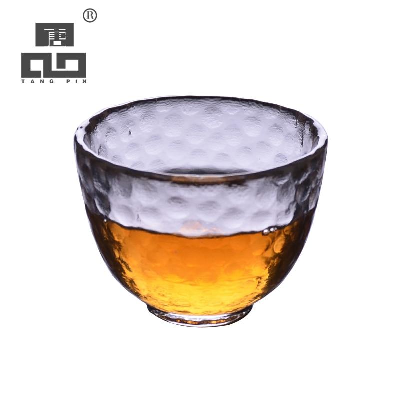 Taza de té TANGPIN de vidrio resistente al calor taza de té de vidrio taza de kung fu 60ml