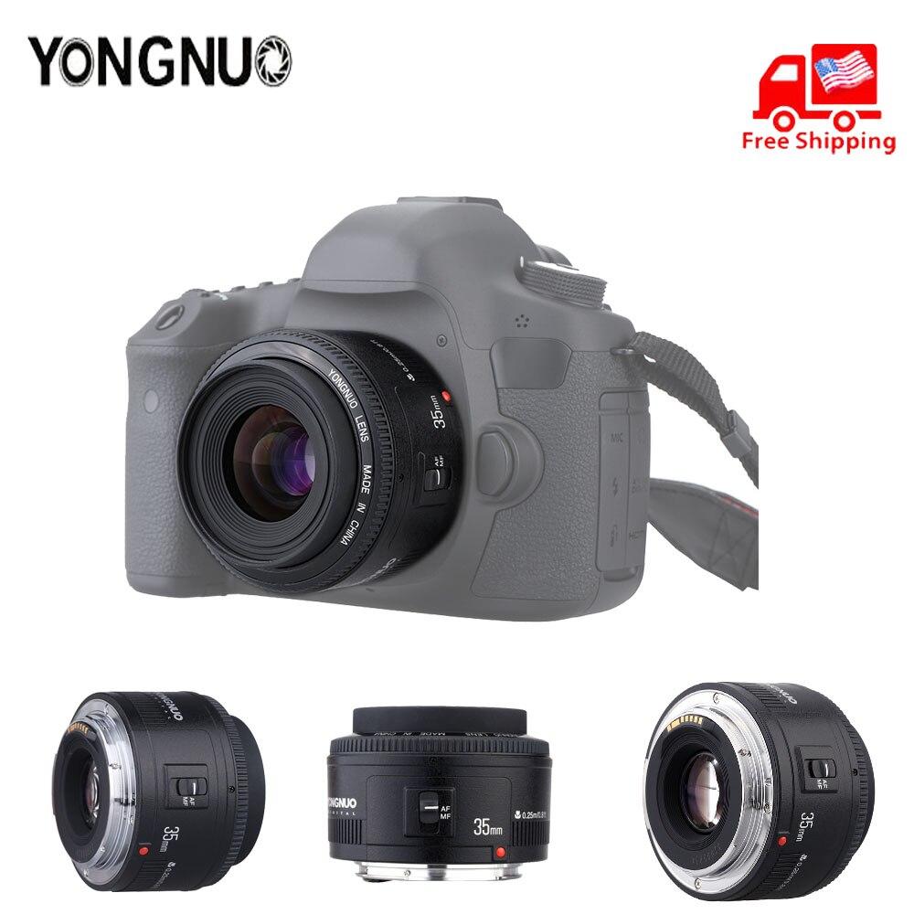 Original YONGNUO lente YN50 mm YN50mm F1.8 YN535mm F2.0 lente de cámara para Canon EF para Nikon F DLSR lente de cámara