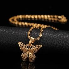 St.kunkka Schmetterling Aussage Halsketten Anhänger Frau Colliers Kragen Wasser Welle Kette Bib 24K Gelb Gold Gefüllt Chunky Schmuck