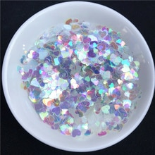 10g/Pack Ultrathin Mix 3-5mm Heart Shape Sequins for Nail art PET Colorful Paillettes Sequin Wedding Craft Decoration confetti