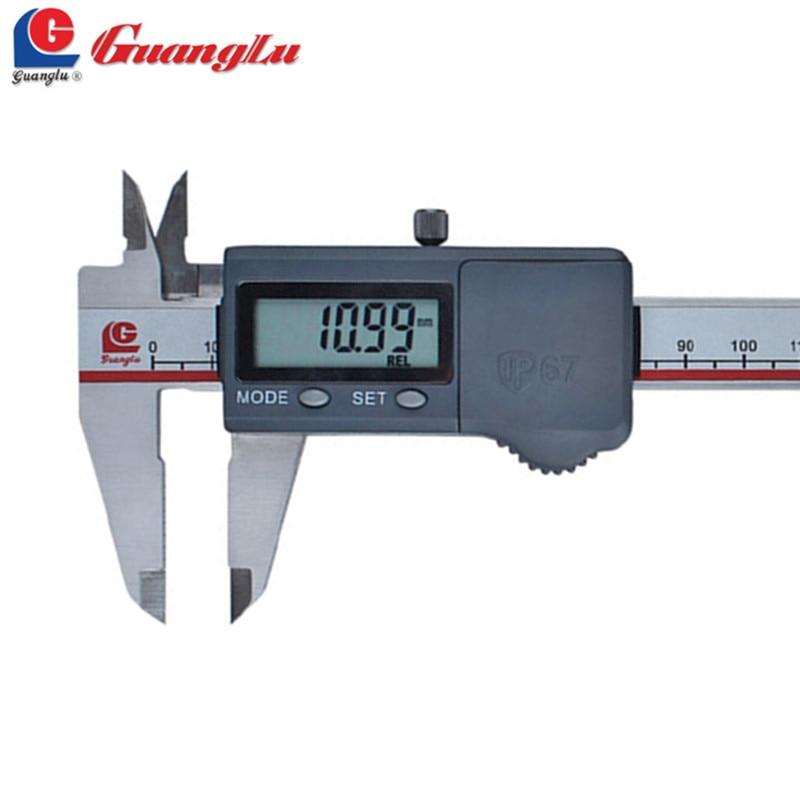 GUANGLU Digital Caliper 0-150mm/0.01 Stainless Steel Waterproof IP67 Paquimetro Electronic Dust-Proof/Proof-Oil Pie De Rey