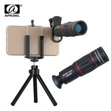 Телескопический зум APEXEL 18X, объектив для мобильного телефона, объективы для макросъемки, Универсальный штатив для селфи с клипсой для всех смартфонов