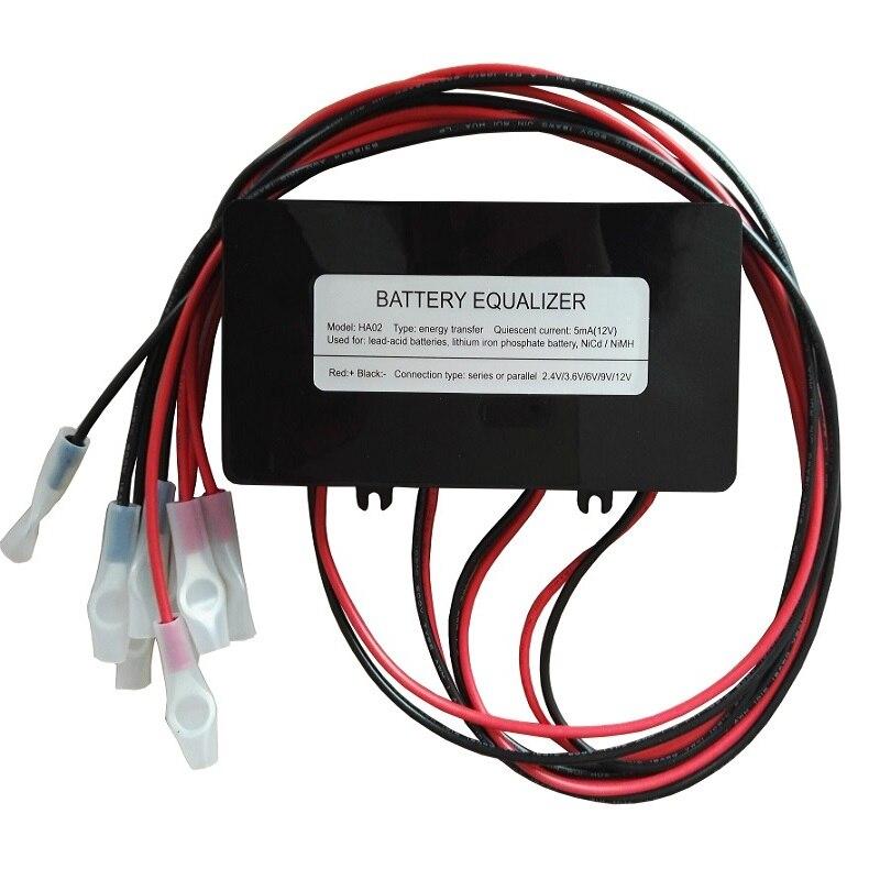Balanceador do equalizador da tensão da bateria ha02 para 4x6 v 4x12 v bateria acidificada ao chumbo sistema da bateria de lítio 4x3.7 v