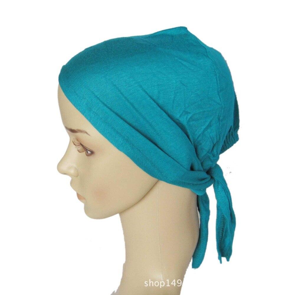 Cobertura completa Cap Cabeça Chapéu Desgaste Islâmico Underscarf Algodão Muçulmano Hijab Inner Óssea Bonnet Lenços Turco
