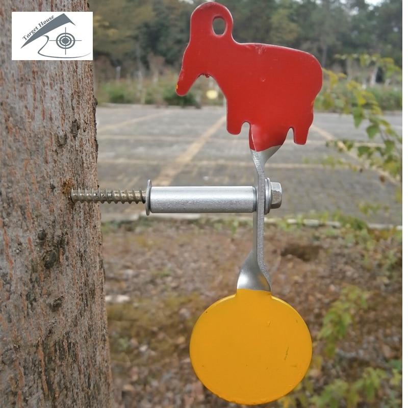 Objetivo de Plinking de acero tipo atornillado -- cabra + redondo/para Paintball, pistola de pellets de plomo, acero bbs, propósito de disparo de Honda