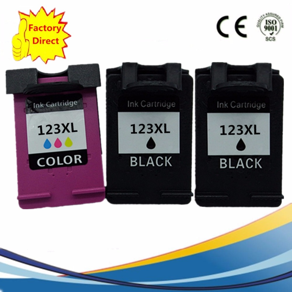 Ink Cartridges Remanufactured For HP123 XL  HP123 HP123XL Deskjet 1110 1111 1112 2130 2132 3630 3632 Inkjet Printer