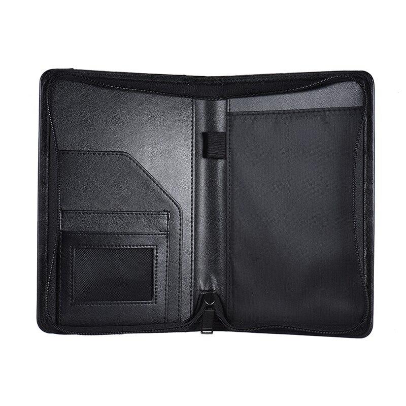 A5 Padfolio cartera de negocios soporte de almohadilla de escritura carpeta de documentos organizador A5 PU cuero para negocios