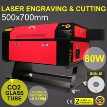 Découpeuse du Laser 700x500mm de Co2 de 80W avec la découpeuse de gravure de Laser de 80MM