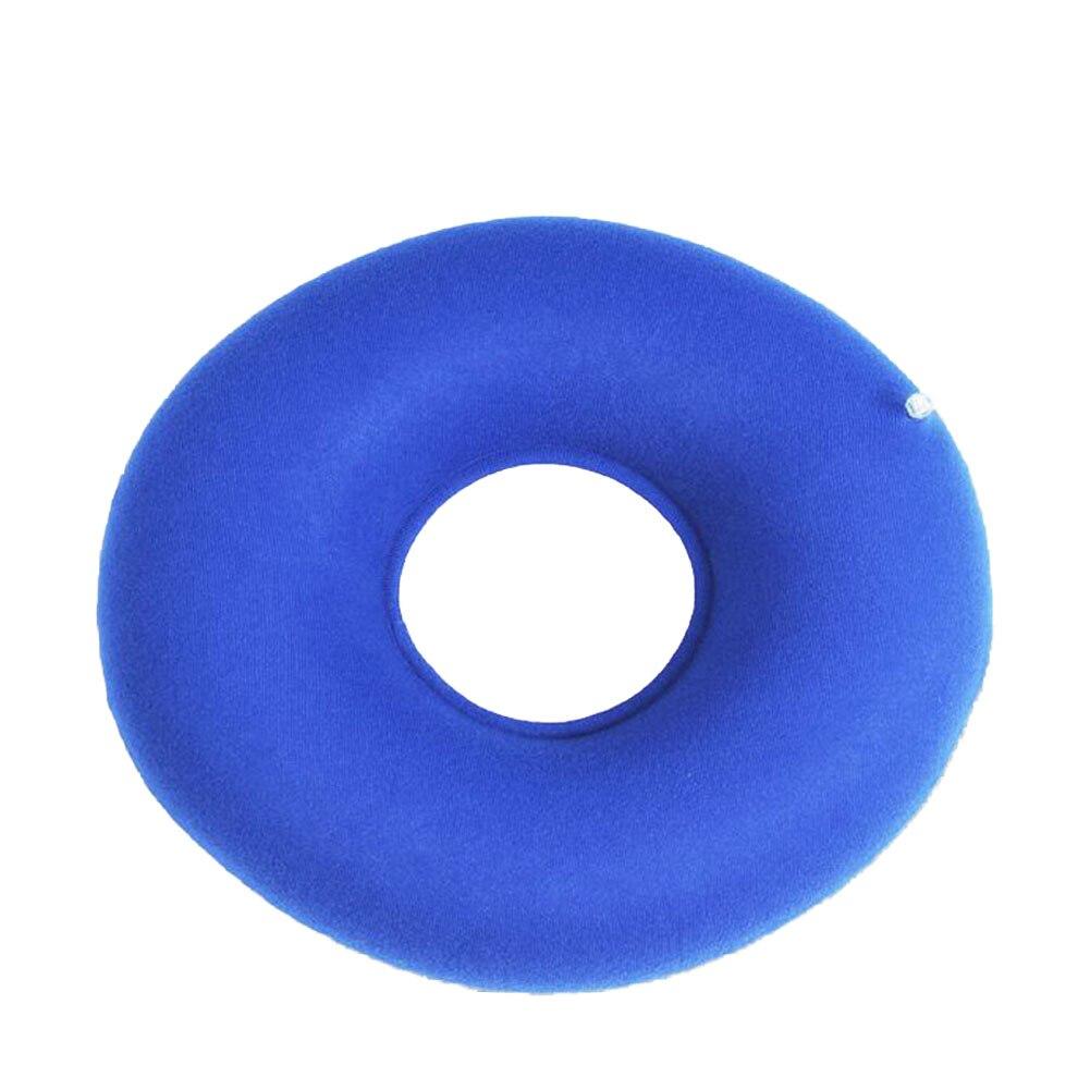 Nuevo cojín inflable de vinilo para asiento redondo, almohada médica para hemorroides, Donut