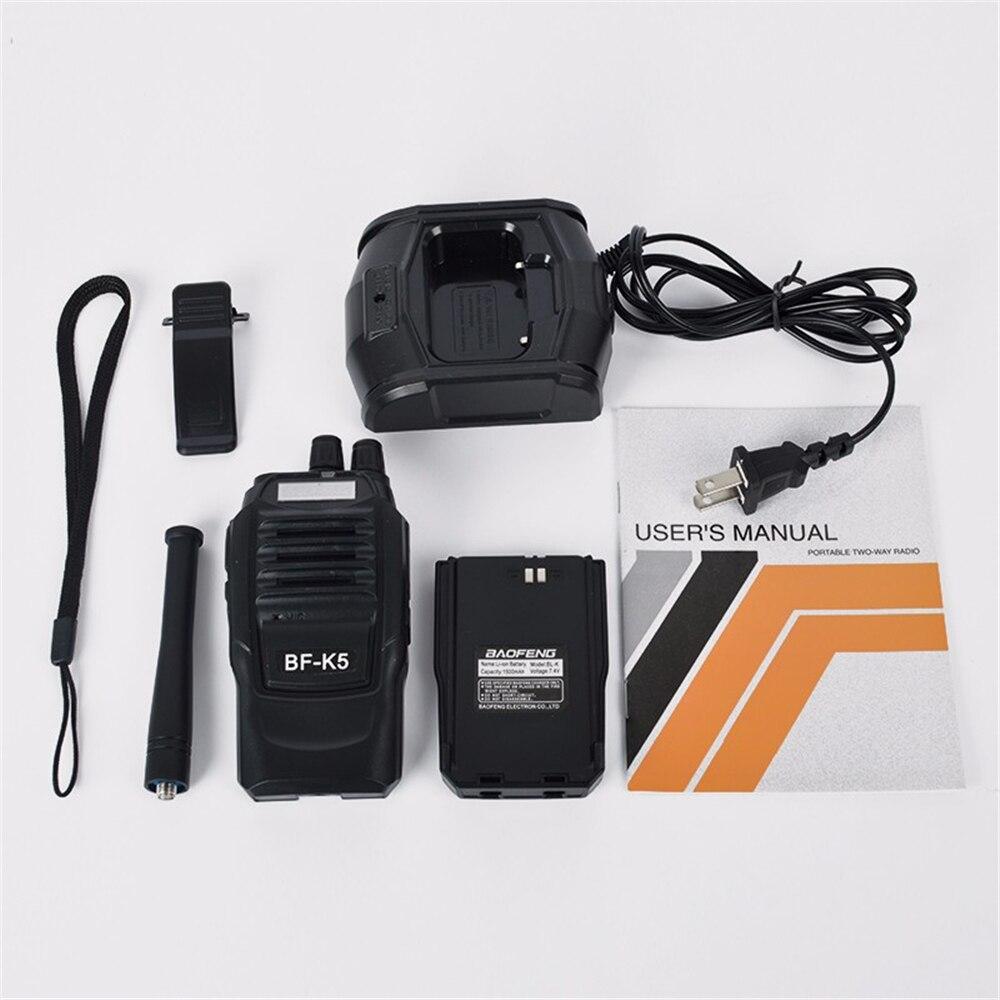 BaoFeng K5 Walkie Talkie 5W UHF 400-470MHz Frequency Portable Radio Set Ham Radio Hf Transceiver Handy Two Way Radio enlarge