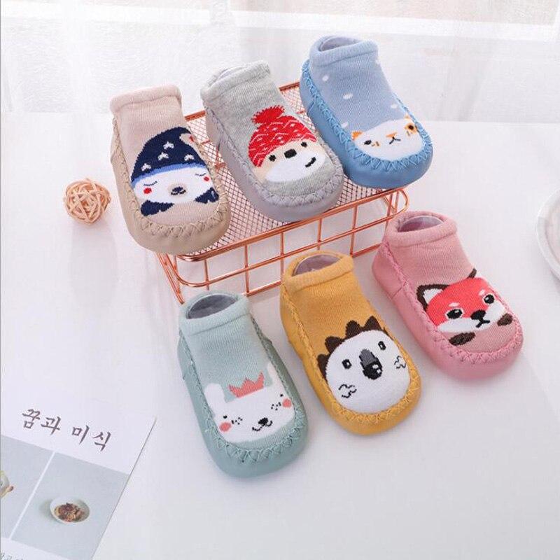 2018 Autumn and winter new children's floor toddler socks cartoon cotton non-slip baby socks