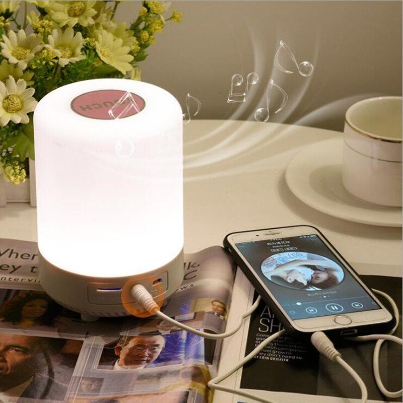 مصباح مكتب ليلي ، مصباح موسيقى بلوتوث ، حامل بدون استخدام اليدين ، بطاقة TF ، مكبر صوت ، أضواء ملونة