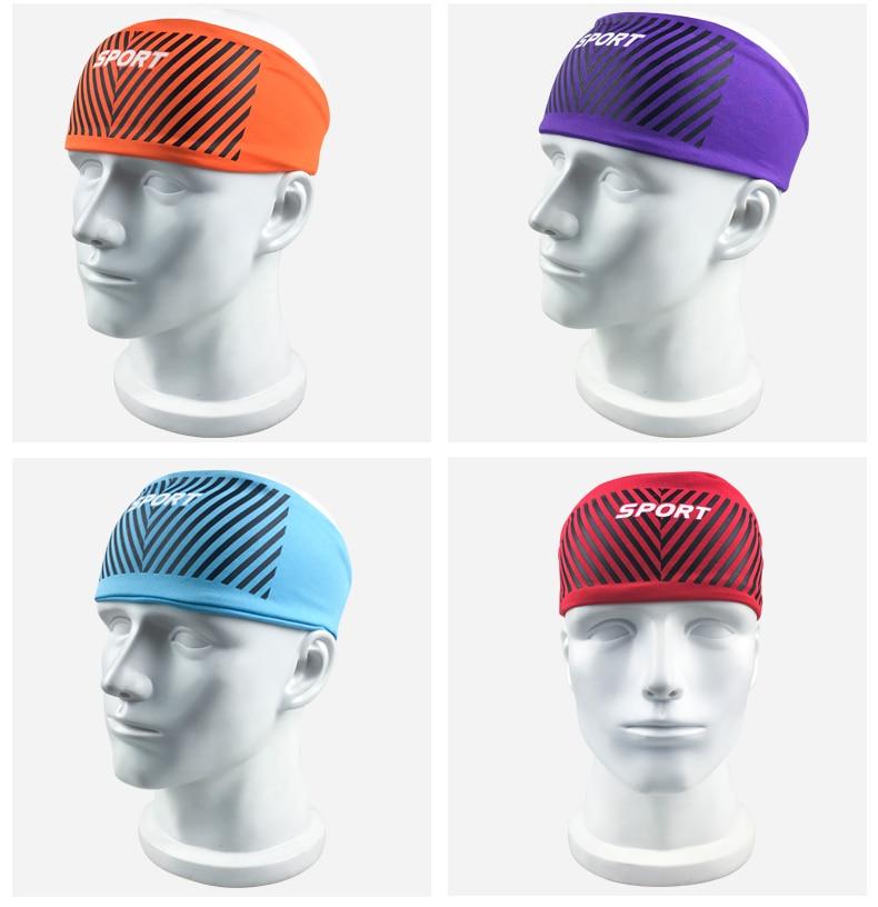 Bandana cabeça absorvente sweatband sweatband respirável para esporte correndo ciclismo edf88