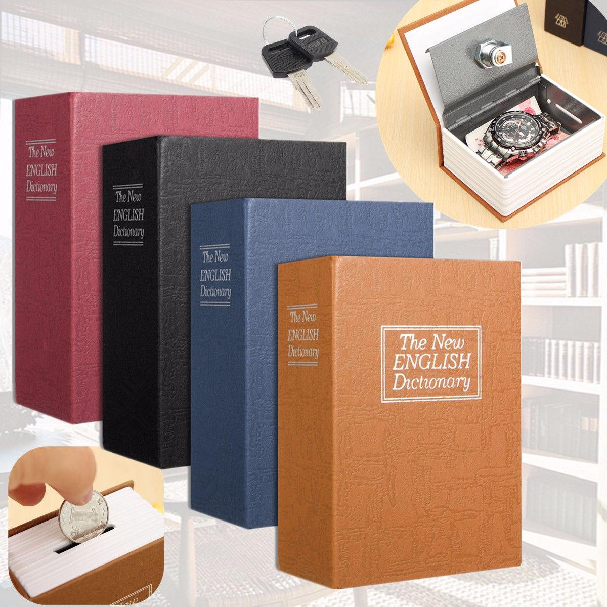 Мини-Сейф для словаря, книга для хранения денег, секретный сейф, сейф для хранения наличных денег, ювелирная для ключей, шкафчик для детей, по...