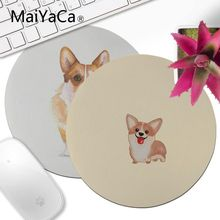 MaiYaCa Vintage Cool Corgi Anti-Slip Durable Silicone mat mouse  Round mouse pad 22x22cm 20x20cm