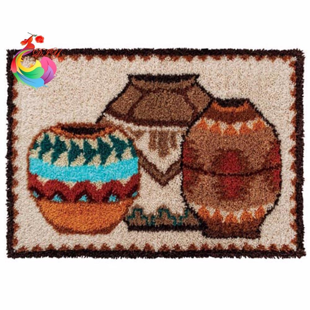 Домашний декор, набор крючков, сделай сам, необработанные крючком, пряжа, коврик, защелка, крючок, коврик, набор, коврик для пола, картинка с С...