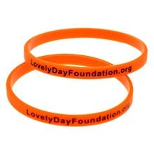 OneBandaHouse Printed Skinny Silicone Wristband with Lovely Day Foundation