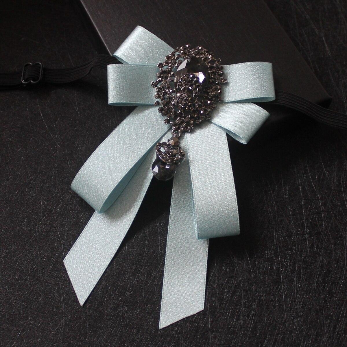 New men's suit shirt luxury rhinestone bow tie High-quality groom groomsman performance host stylist bow tie