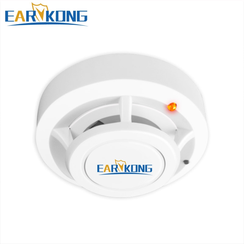 Fire Protection 433MHz Smoke Detector Wireless White Color Smoke Sensor Highly Sensitive alarm fire For GSM/Wifi Alarm System