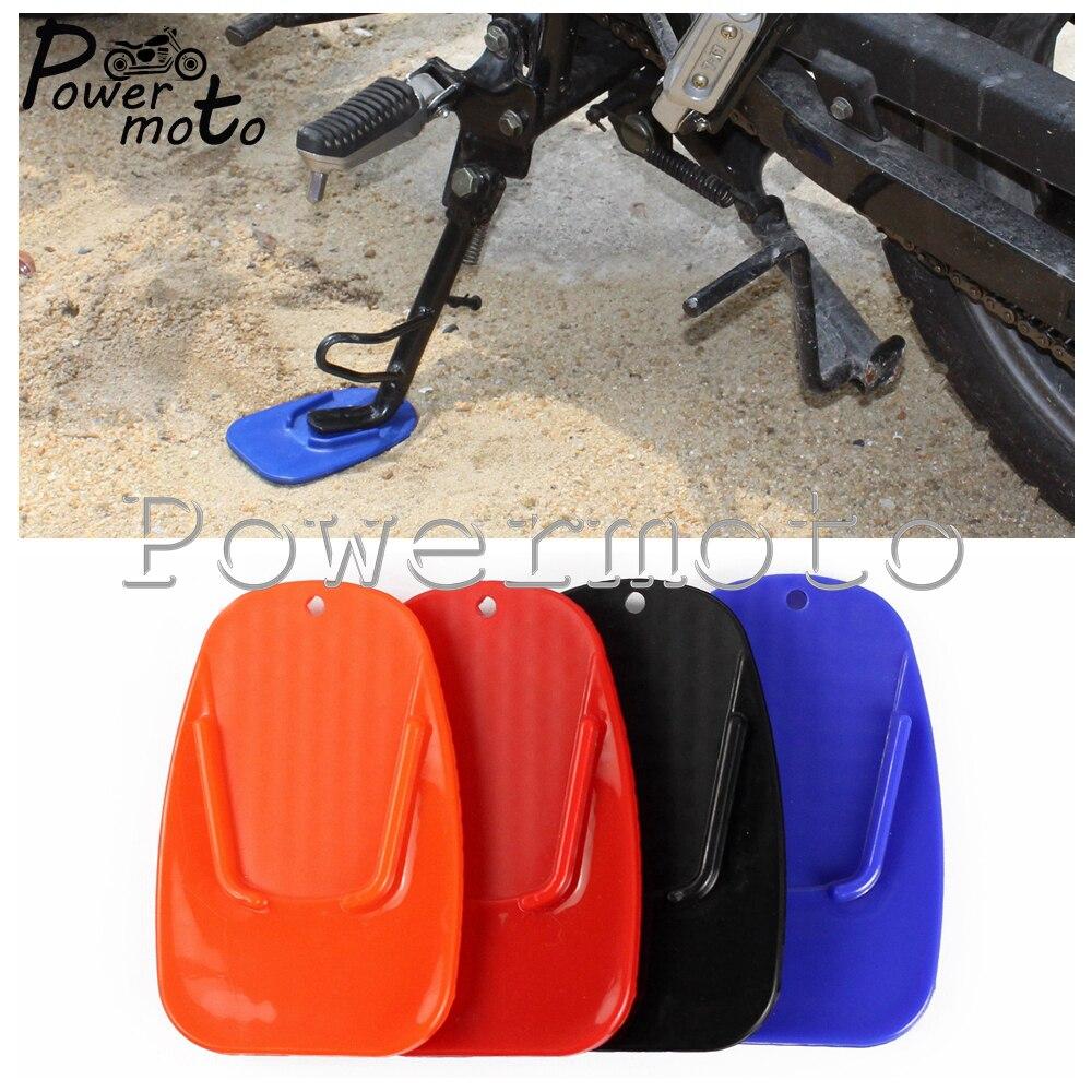 Plaque plastique pour béquille de moto   Pour moto, Base de plaque antidérapante, Extension latérale pour Yamaha Honda Suzuki Kawasaki
