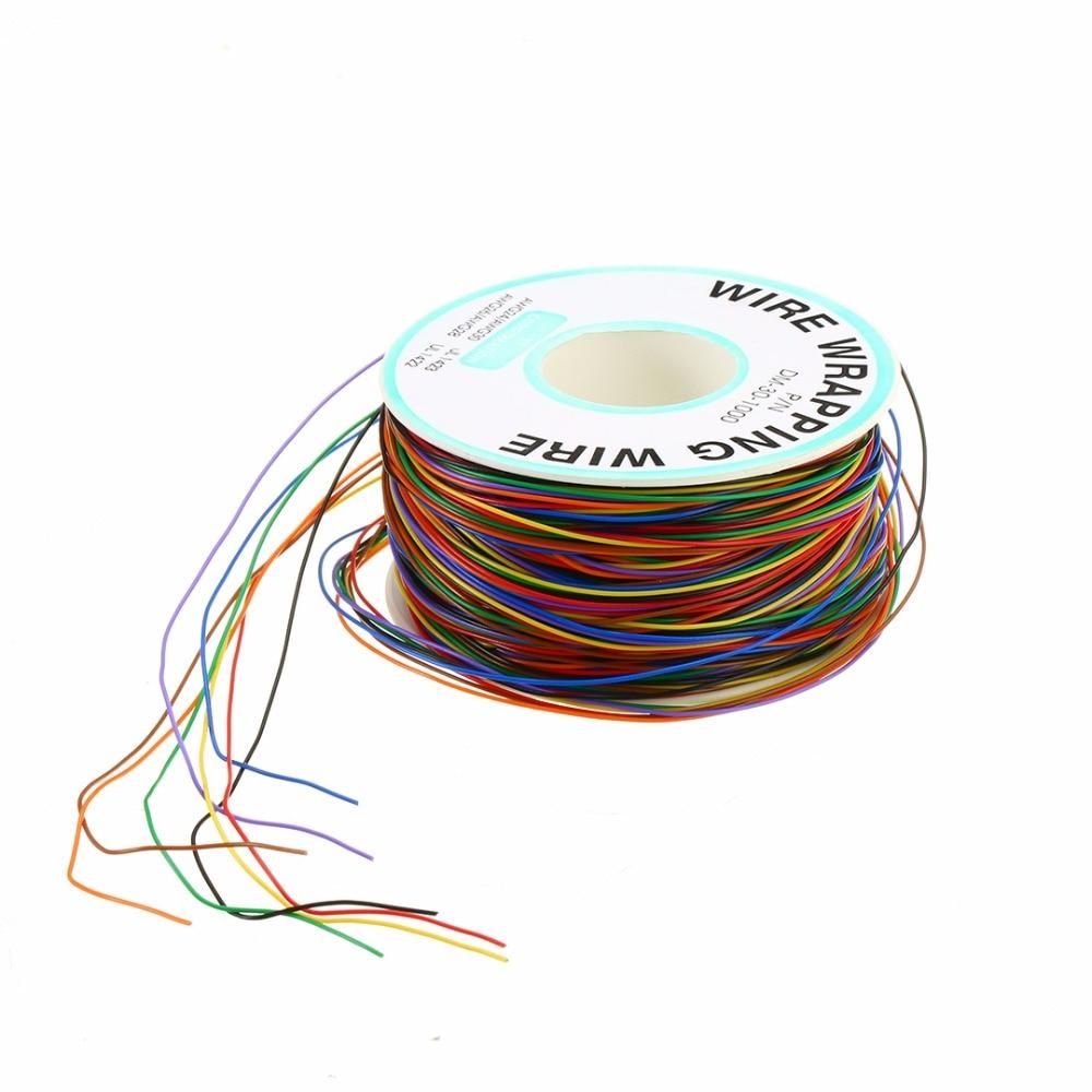 30 awg que envolve o cabo de teste da isolacao do envoltorio do fio de cobre 8 colorido